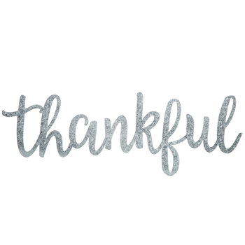 Thankful Galvanized Metal Wall Decor
